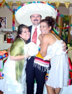 It is fun if the guests wear Mexican attire, or you can provide hats, sarapes, shawls, mustaches, etc and take lots of pictures...