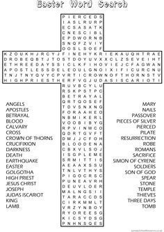 Easter Word Search – Sunday School Activity website has good material – Back to School Crafts – Grandcrafter – DIY Christmas Ideas ♥ Homes Decoration Ideas Sunday School Activities, Church Activities, Bible Activities, Sunday School Lessons, Sunday School Crafts, Easter Activities, Easter Games, Resurrection Day, School Worksheets