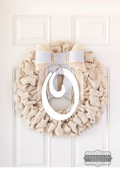 Burlap Fall Wreath, Fall Decorations, Burlap Wreath with Initials, Fall Door Hanger, Front Door Wreaths, Burlap Fall Wreaths for Front Door - Interchangeable Bow and Initial