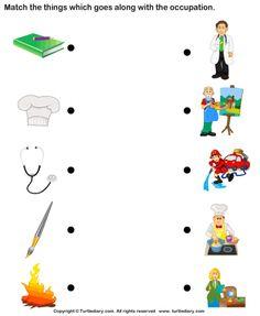 Matching Jobs Worksheets For Kindergarten – Worksheets Samples Grade R Worksheets, Sight Word Worksheets, Science Worksheets, Worksheets For Kids, Kindergarten Worksheets, Printable Worksheets, Math Activities, Community Helpers Kindergarten, Community Helpers Worksheets