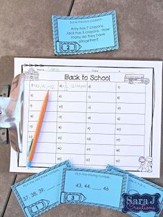 Using task cards for math centers is a fun way to make math more engaging. These task cards are designed for second graders to use at the beginning of the year so they are a review of first grade concepts. They cover concepts such as addition and subtraction within 20, story problems, sequencing numbers, comparing numbers and more.