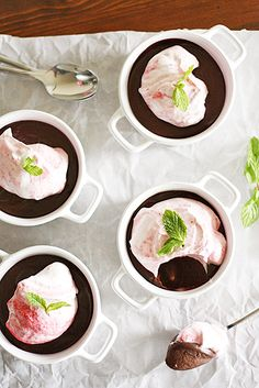 Chocolate-Raspberry Pots de Creme