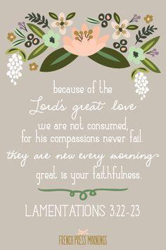 French Press Mornings Print - Lamentations 3:22-23 #encouragingwednesdays #fcwednesdaywisdom #quotes