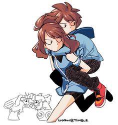 I like to draw Pokespe and things I like. It's mainly agencyshipping. Pokemon Mew, Pokemon Manga, Black Pokemon, Pokemon Ships, Pokemon Comics, Pokemon Funny, Pokemon Fan Art, Cool Pokemon, Anime Manga