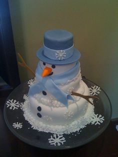 Snowman Cake!  I NEED/MUST HAVE this cake!