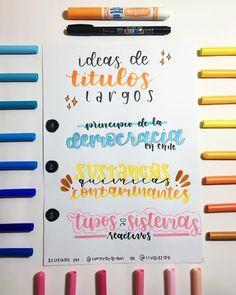 Bullet Journal Titles, Journal Fonts, Bullet Journal School, School Organization Notes, School Notes, Pretty Letters, Stabilo Boss, Hand Lettering Alphabet, School Notebooks