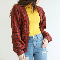Marzia's New Clothing Line Winter 2016 #Marzia #Bisognin #Cutiepie #fashion #pastel #clothes #cute #winter #classy #beautiful #photography #YouTubers #brown #hair #brunette #mustard #yellow #burgundy #cardigan #turtleneck #ripped #jeans
