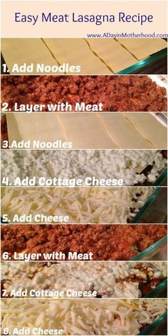 Miss Kitty & Her Closet: Easy beef lasagna recipe