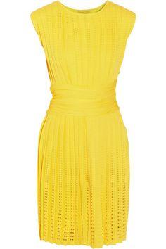Giambattista Valli Perforated Stretch Cotton-blend Dress