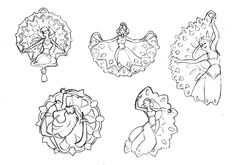 bijoux orientaux #bijou #jewel #dessin #danse #oriental #pendentif