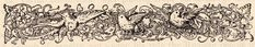 Old Printer's Ornament- Birds and Scrolls--The Graphics Fairy