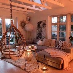 New cosy living room lighting pillows 61 Ideas Warm Home Decor, Stylish Home Decor, Living Room Goals, Living Spaces, Living Room Lighting, Living Room Decor, Hippie Living Room, Interior Design Living Room Warm, Bohemian Living