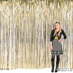 Large Gold Fringe Curtain Decoration / The Great Gatsby #decor