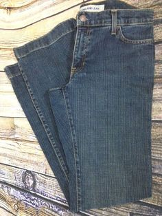 GAP Long and Lean Original Stretch Jeans Sz 8R Boot Cut Dark Wash Denim W31 L32 #GAP #BootCut