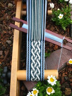 This is a custom handfasting cord for a Canadian couple getting married this month. Woven by Annie MacHale  #inkle_weaving #inkleweaving #celticknot