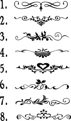 Wall Quote Flourishes Vinyl Wall Embellishments