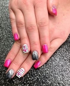 Gel full set summer nails beauty and fashion pinterest manicure gel full set with nail art nails by megan lee prinsesfo Gallery