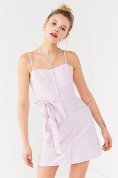 68831920a6c UO Striped Tie-Belt Button-Down Dress