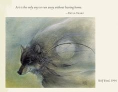 """""""Wolf Wind"""", 1994 -- A Woman's Diary for 2014: Paintings by Susan Seddon Boulet, Engagement Calendar"""