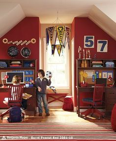 164 Best Boys Bedroom : Sports images | Boy room