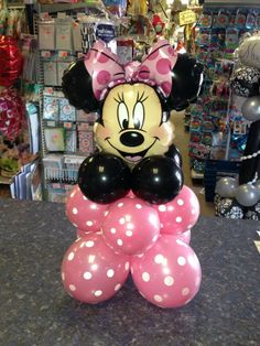 Minnie Mouse Table Centerpc Special Order 219-531-2623 Mini Mouse 1st Birthday, Minnie Mouse Birthday Decorations, Minnie Mouse Balloons, Minnie Mouse Theme Party, 2nd Birthday Party Themes, Minnie Mouse Baby Shower, Minnie Mouse Pink, Mickey Mouse Birthday, Mouse Parties