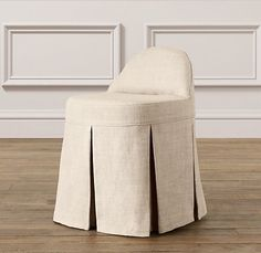 Maxine Slipcovered Vanity Stool | Desk Chairs | Restoration Hardware Baby & Child