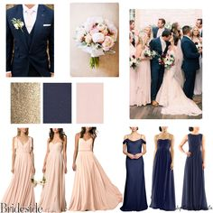 Bridesmaid dresses don't need to be difficult. We've got simple tips for doing mismatched bridesmaid dresses the stress-free way. Navy Blue Bridesmaid Dresses, Wedding Bridesmaid Dresses, Wedding Party Dresses, Navy Bridal Parties, Practical Wedding, Casual Wedding, Trendy Wedding, Blush Bridal, Colors