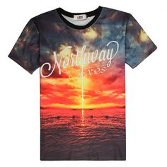 mens fashion Space Galaxy T-shirt Men/Women Harajuku Hip hop Brand T-shirt 3d Printed Nightfall/Sea View Tree Summer Tops Tees T shirt B24 *** AliExpress Affiliate's buyable pin. Details on product can be viewed on www.aliexpress.com by clicking the VISIT button #MensTshirts