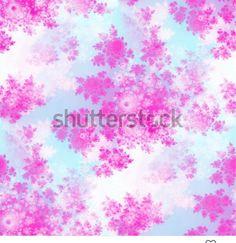 Floral seamless pattern on whitish background - computer generated pink fractal rosebuds tile able design in biedermeier style Fractal Patterns, Rose Buds, Fractals, Floral Design, How To Draw Hands, Tile, Mandala, Backgrounds, Texture