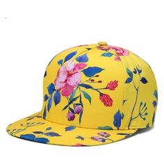 285fd7fbed3c4  Gsycl  2017 New Fashion Male Lady Neutral Print Baseball Cap Hip Hop Hat  Europe and America Outdoor Tide Cap Wealth Flower