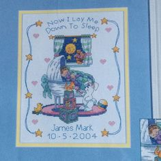Dimensions Counted Cross Stitch Kit Baby Hugs Bedtime Prayer Birth Record #72879 #Dimensions #Frame