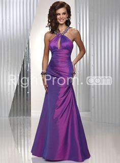 Elegant Mermaid Floor-length Halter Prom Dress