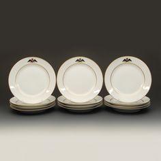 A Set of 12 Russian Imperial Porcelain Factory Gatchina Palace Service Plates   John Atzbach Antiques