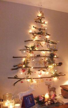 Weihnachtsbaum für die Wand