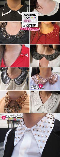gola, golas, golinha, blusa, zara, spikes, brilho, bordados, fashion rio, verão 2013, tendência, spotted, trend, trabalhadas