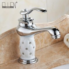 Bathroom sink faucet hot cold water mixer tap crane with diamond body copper chrome basin faucets