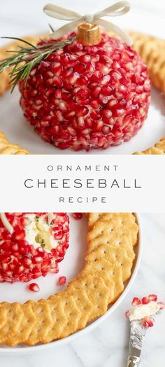 Why buy a boring store bought Holiday Cheese Ball when it's so easy to make your own? This Pomegranate Cheeseball recipe is a savory Christmas Cheese Ball with a vibrant taste of sweet and sour pomegranate seeds. Make it in the simple shape of an ornament and you'll have an appetizer that everyone will love!