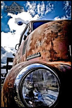 Loving the closeup on this #Rusty #Classic #Chevy #PickUp #Truck! #RustinPeace #Beauty