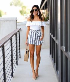 1d7b4a0b04 Found the CUTEST paperbag waist striped shorts from @oliviahudsonclothing  😍 I mean, they are