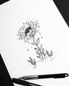 Pin by evelin perez on dibujos kawaii in 2019 art sketches, art drawings, t Tumblr Drawings, Easy Drawings, Tattoo Drawings, Body Art Tattoos, Pencil Drawings, Flower Drawings, Art Du Croquis, Geometric Tatto, Art Inspiration Drawing