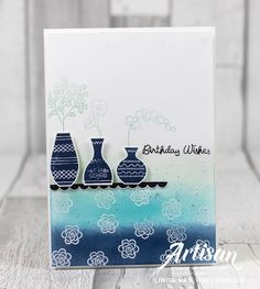 Stampin with Liz Design: Stampin' Up Varied Vases Card Hand Stamped Cards, Stampin Up Catalog, Tampons, Card Kit, Paper Cards, Stamping Up, Flower Cards, Greeting Cards Handmade, Homemade Cards