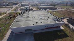 video riprese aeree del deposito beni culturali regione Umbria.  Riprese aeree interne ed esterne.