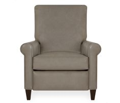 Halston Leather Recliner - Putty - This item may be custom ordered in over 500 covers! The Halston recliner is upholstered in a putty