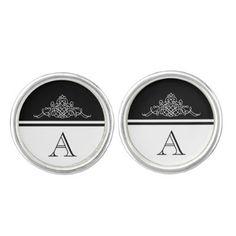 #monogrammed - #Elegant monogram design cufflinks