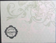 This is a handmade card with a sentiment stamped on the front of the card and the inside of the card is blank.