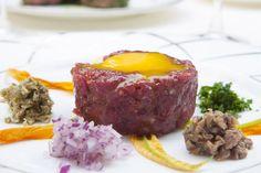 """A special """"tartare with its condiments"""" of our Chef Rino Pennucci ! Tartare con i suoi condimenti del nostro Chef Rino Pennucci!  Restaurant Relais Le Jardin, Florence-Italy"""