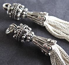 Sterling Silver Tassles  Gorgeous Sterling Silver by lilysoffering, $46.00