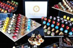 an array of the beautiful chocolates we'd like to share with you!