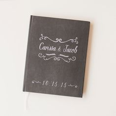 Wedding Guest Book Wedding Guestbook Custom by starboardpress -  What do you thing of this?
