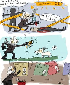 The Witcher 3, doodles 1 by Ayej on DeviantArt